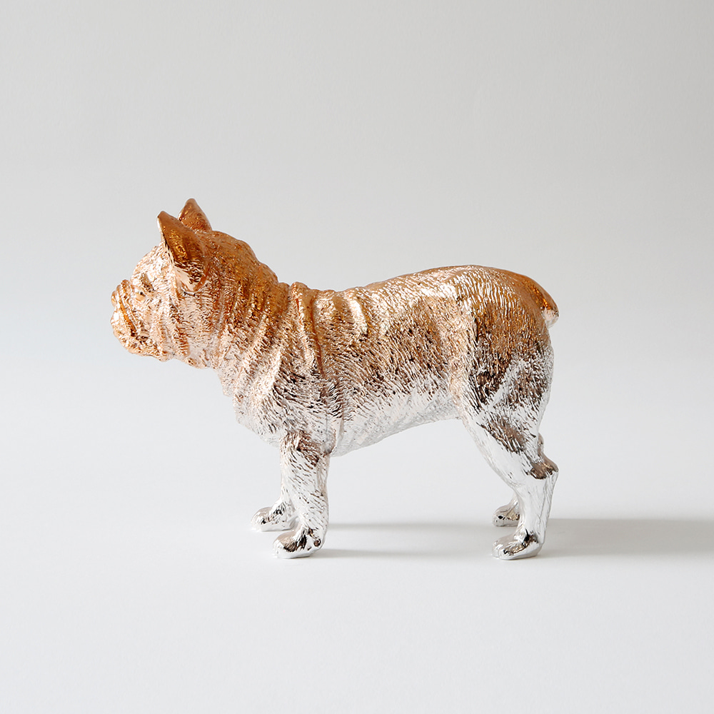 Bulldog X Paperweight (Rose gold)