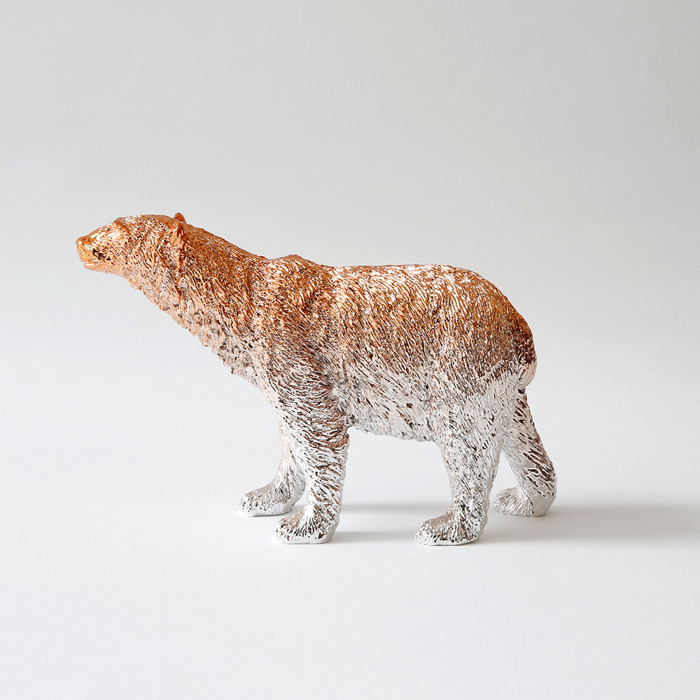 Polar bear X Paperweight (Rose gold)