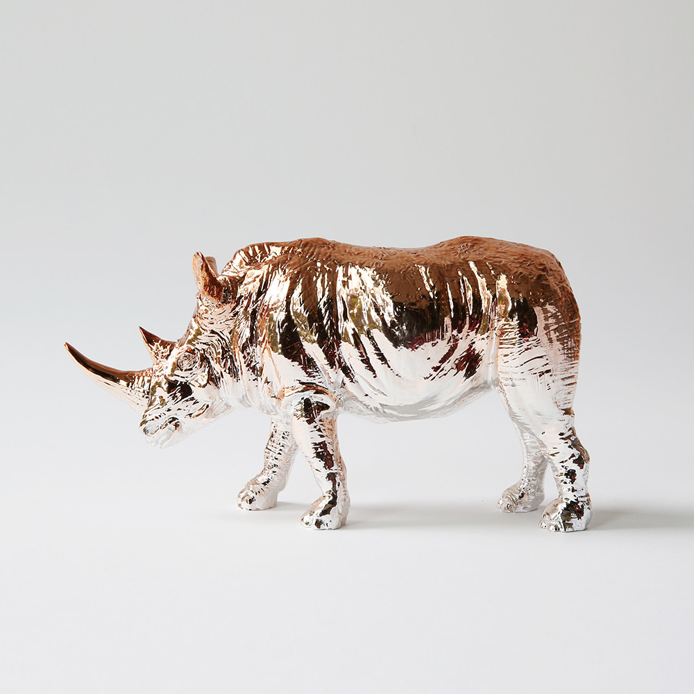 Rhino X Paperweight (Rose gold)